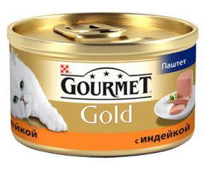 Gourmet Gold (Гурмет Голд ) корм консервы для кошек паштет с индейкой