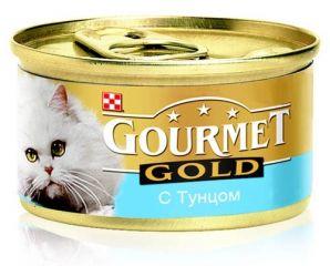Gourmet Gold (Гурмет Голд ) корм консервы для кошек паштет с тунцом