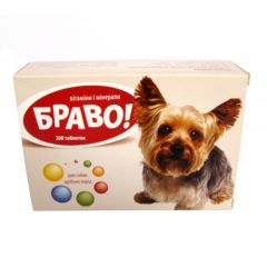 Браво - витамины и минералы для собак мелких пород. Артериум