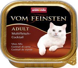 Вом Фейнштен корм консерва для кошек и котов мясной коктейль с индейкой и кроликом 100гр, Анимонда