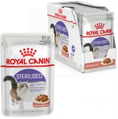 Royal Canin Sterilised влажный корм консерва для стерилизованных кошек старше 1 года (тонкие кусочки в соусе), пауч