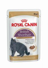 Royal Canin British Shorthair (кусочки в соусе) влажный корм консерва для взрослых кошек (пауч)