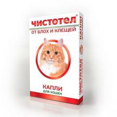 Чистотел капли на холку от блох и клещей для кошек и котят