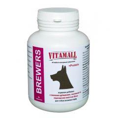 VitamAll BREWERS кормовая добавка с пивными дрожжами, чесноком и повышенным содержанием белка для собак крупных пород