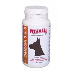 VitamAll кормовая добавка для улучшения шерсти с Омега-3 и Омега-6 кислотами для собак