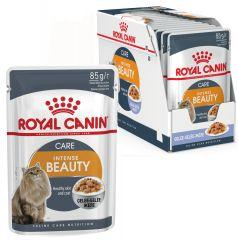 Royal Canin Intense Beauty в желе - корм консерва для кошек старше 1 года для поддержания красоты шерсти и здоровой кожи (пауч)