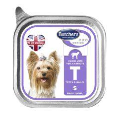 Butchers PRO series Veal корм консерва для собак кусочки телятины с морковью в соусе, 150 гр