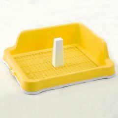 Туалет для собак и щенков под пеленку с сеткой, столбиком и стеной M 48,5x40,6х15cм AnimAll P 962-А