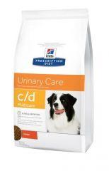 Hills Prescription Diet Canine c/d Multicare Лечебный сухой корм для собак профилактика и лечения МКБ