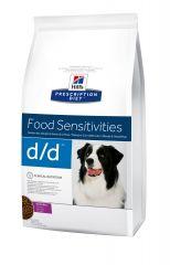 Hills Prescription Diet Canine d/d (утка и рис) Лечебный сухой корм для собак при пищевой аллергии