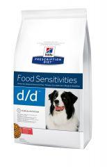 Hills Prescription Diet Canine d/d (лосось и рис) Лечебный сухой корм для собак при пищевой аллергии