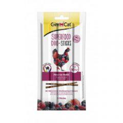 GimCat Superfood Duo-sticks Дуо-палочки с цыпленком и ягодами для котов