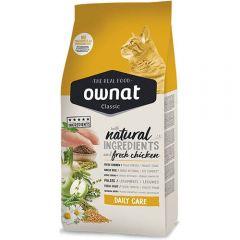 Ownat Classic Daily Care (Cat) сухой корм с курицей для взрослых кошек всех пород