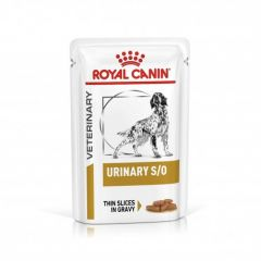 Royal Canin Urinary S/O Gravy (пауч) Лечебные консервы для собак кусочки в соусе