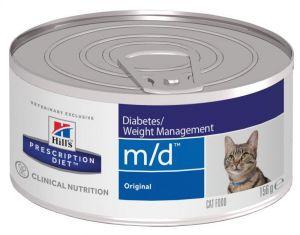 Hill's (Хиллс) Wet PD Feline m/d Diabetes/Weight Management - лечебные консервы-диета со свининой для кошек при заболевании сахарным диабетом