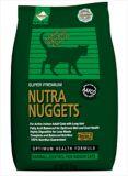 Nutra Nuggets Indoor Hairball Control Formula (зеленая) сухой шерстевыводящий корм для взрослых домашних кошек