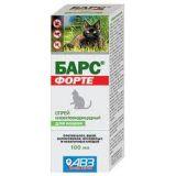 Барс Форте - спрей инсектоакарицидный от блох для кошек