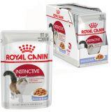 Royal Canin INSTINCTIVE in jelly влажный корм консерва для привередливый кошек (нежные кусочки в желе) пауч