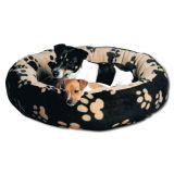 Мягкий матрас лежак для собак Sammy черный с бежевым Trixie 3768