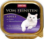 Вом Фейнштен корм консерва для кошек и котов курица и море продукты 100гр, Анимонда