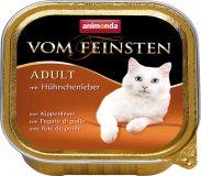 Вом Фейнштен корм консервы для кошек и котов с куриной печенью 100гр, Анимонда