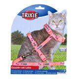 Шлея с поводком для кошки Trixie 4209