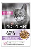 Purina Pro Plan Nutrisavour Delicate Консервы пауч для кошек кусочки индейки в подливе