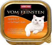 Вом Фейнштен корм консерва для кошек и котов говядина и птица 100гр, Анимонда