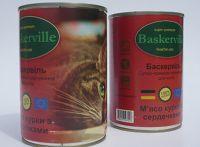Baskerville (Баскервиль) Курица с сердцем консерва для котов