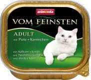 Вом Фейнштен корм консерва для кошек и котов индейка кролик. 100гр, Анимонда