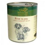 Консервированный корм для собак Hubertus Gold Ягненок и рис 800г