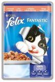 Felix Fantastic (Феликс Фантастик) 100 гр корм консервы для кошек кусочки с лососем в желе пауч