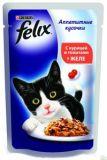 Felix Fantastic (Феликс Фантастик) 100 гр корм консервы для кошек кусочки с курицей и томатами в желе пауч