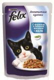 Felix Fantastic (Феликс Фантастик) 100 гр корм консервы для кошек усочки с форелью и зеленым горошком в желе пауч