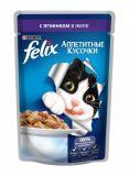 Felix Fantastic (Феликс Фантастик) 100 гр корм консервы для кошек кусочки с ягненком в желе пауч