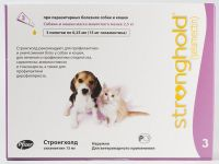 Стронгхолд (Stronghold) 6% щенки и котята (до 2,5 кг) пипетка 15 мг (0,25 мл)