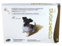 Стронгхолд (Stronghold) 12% маленькие собаки (5,1-10,0 кг) пипетка 60 мг (0,5 мл)