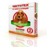 Чистотел МАКСИМУМ капли на холку от блох и клещей для собак СРЕДНИХ пород весом 10-25 кг