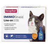 Beaphar IMMO Shield - капли спот-он от блох и клещей Бифар для кошек и котят