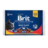 Brit Premium Ассорти Мясная тарелка из влажного корма Brit Premium Рагу из говядины и Brit Premium Курица