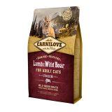 Carnilove Cat Lamb & WildBoar Sterilised сухой беззерновой корм с ягненком и мясом дикого кабана для взрослых стерилизованных кошек и кастрированных котов