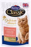Butcher's Cat Delicious Бутчерс влажный корм консервы для кошек Лосось и Дори (65084)