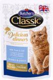 Butcher's Cat Delicious Бутчерс влажный корм консервы для кошек Форель и Треска (65085)