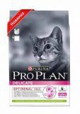 Purina Pro Plan (Про План) Delicate Adult Lamb сухой суперпремиум корм с ягненком для взрослых кошек с чувствительной кожей и пищеварением