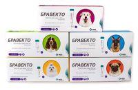 Bravecto (Бравекто) SPOT-ON (СПОТ-ОН) капли от блох и клещей для собак