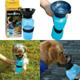 Поилка PET BOTTLE прогулочная бутылка с чашей для собак и щенков 500 мл