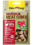 GimDog Superfood Meat Cubes Лакомства для собак с курицей, клюквой и розмарином
