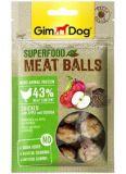 GimDog Superfood Meat Balls Лакомство для собак с курицей, яблоками и киноа