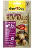 GimDog Superfood Meat Balls Лакомство для собак с курицей, сладким картофелем и просом
