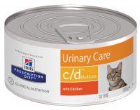 Hill's (Хиллс) Wet PD Canine c/d Urinary Care Multicare - лечебные консервы-диета с курицей для кошек при заболевании мочевыделительной системы